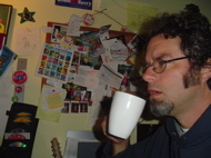 teacher drinking coffee